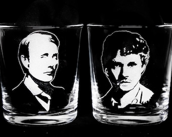 Hannibal Character Tumblers. Hand engraved.
