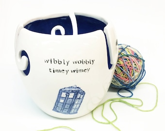 XL Doctor Who Yarn Bowl Extermiknit / Don't Blink / Timey Wimey Extra Large