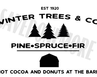 Winter Trees & Co SVG File