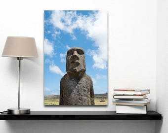 Lone Moai | Easter Island, Chile ~ Moai, statue, carving, bird man, Ahu Tongariki, Rapa Nui, Rano Raraku, Polynesia, stone