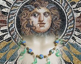 Baroque necklace - snake dance