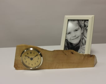 127 Burly Gold Faced Desk Clock