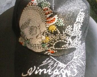 One, black, tattoe, skull, style cap,hip hop, for men, Free shipping