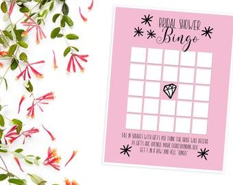 Bridal Shower Bingo, INSTANT DOWNLOAD, Bridal Shower Games, Wedding Shower Bingo, Bridal Shower, Wedding Bingo, Wedding Shower Games, Games