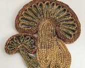 Woven Straw Mushroom Trivet