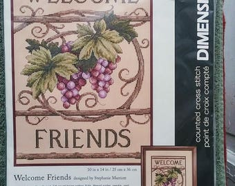 DIMENSIONS Counted Cross Stitch Kit Welcome Friends