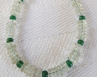 Green - Prasiolite with Aventurine