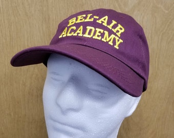 Bel Air Academy Hat Will Smith Dad Hat Baseball Cap TV Show Halloween Costume Fresh Prince Carlton Banks Embroidery Quality Men's Gift Idea