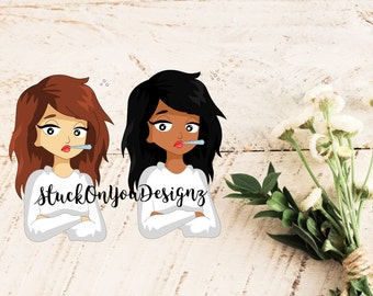 Sick, Not Feeling Well, Ill - 20 Stickers // Aria, Bree // Perfect for any planner