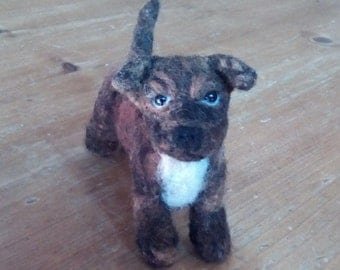 Needlefelted Brindle Staffordshire Bull Terrier
