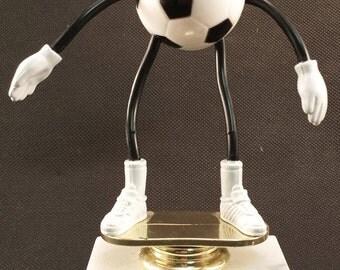 Bendy Soccer Trophy - FREE ENGRAVING - Soccer Award - Unisex Soccer Award - Participation Award - Soccer Team Trophies - Upward Soccer Award
