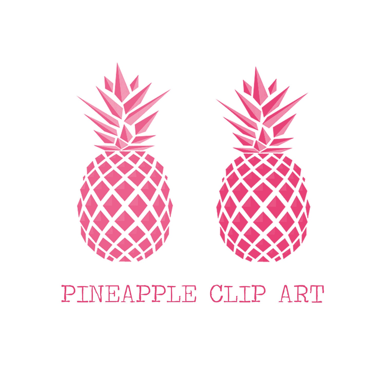 Pink Pineapples Digital Clip Art Pineapple Clip Art