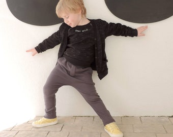 Black Cardigan - Kids Cardigan - Baby Cardigan - Toddler Cardigan -  Hipster Kids Clothes - Size 18M to 9-10Y - by PetitWild