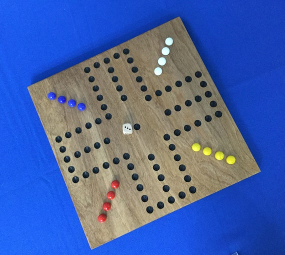 Wooden Marble Game Board Aggravation Great Gift 100 Wood Oak