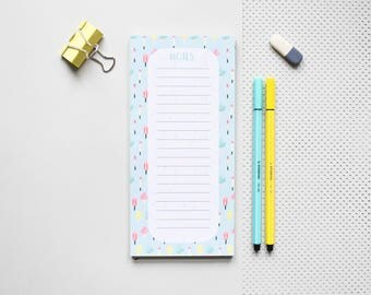 Pastel note pad, pink jotter, ice cream note pad, ice cream stationery