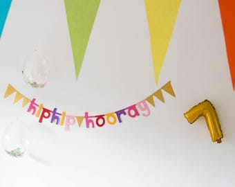 Hip Hip Hooray Sling//Verjaardagsslinger//Birthday present//garland//Banner//decoration//sling//Birthday//Gift