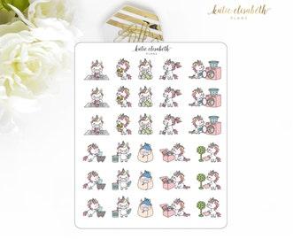 Cute Unicorns Set 1 || Planner Stickers