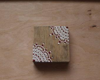 Mandala Mini Sign- COMPLETELY HAND PAINTED- Beachy Bohemian- Mini Sign- Salty Life Decor