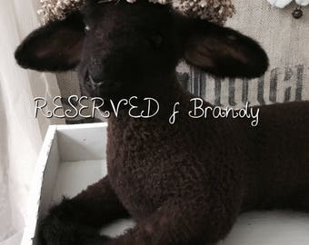 RESERVED f B! Do not buy! Vintage lamb, antique lamb, taxidermy, from france