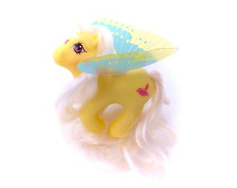 G1 My Little Pony Little Flitter Summerwing Summer Wing Baby Winged Ponies Vintage Original 80s 1987 Butterfly Hasbro Yellow Bird Original