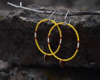 blood moon earrings