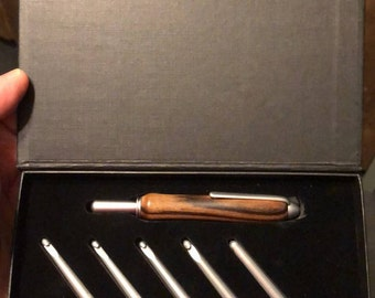 Crochet Hook Set in Ebony
