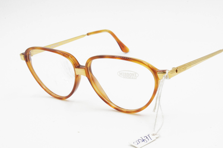 6e877a64b30e1b Vintage 1980s rare Missoni M 803 eyeglasses Brown   Gold    Oval eyeglasses  designed in
