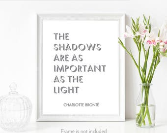 Jane Eyre / Literary art / Book lover gifts / Philosophy print / Frameable art quote / Charlotte Bronte /