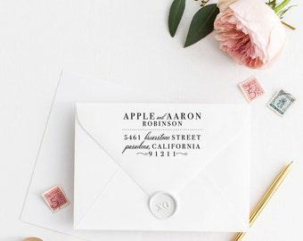 Custom Return Address Stamp, Self Ink Return Address Stamp, Rustic, Rooster Calligraphy Address Stamp Return Address Stamp No99