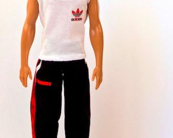Ken doll clothes - Ken pants, Ken top, Barbie clothes, Ken doll sport suit