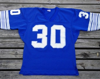 Vintage 80's Detroit Lions mesh football jersey #30 Ravens Knit Sized Mens Medium Made in Canada