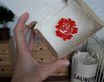 Rose bud Brooch - Laser Cut Rose bud - Acrylic Brooch Rose bud - Rose bud Pin - Rose Flowers - Plexiglas - Handmade - Barnaul