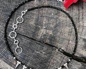 Black Spinel Gemstone Nec...