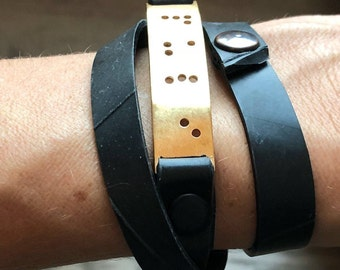 PERSONALIZED Bracelet, Vegan Bracelet , Braille Bracelet, Personalized Braille Bracelet, Handmade Bracelets, Braille Jewelry, Braille Cuff