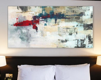 Original ABSTRACT PAINTING Large Canvas Art Custom Abstarct Art White Abstract Large Painting Wall Art Modern Art White Painting