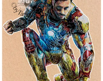 Iron Man - Fine Art Print - A4/A3