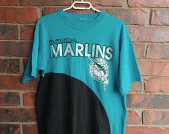 1993 Florida Marlins T-Shirt Vintage MLB 90s Florida Marlins Baseball Tee Shirt