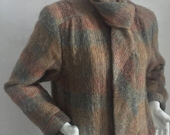 Vintage Evan-Picone Mohair Coat/Fully-Lined/Union Made Tag/Size 16 XL