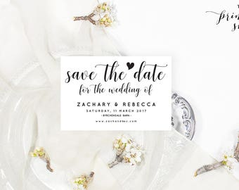 Rustic save the date template, Printable save the date printable, Save the date wedding save the date rustic, Printable wedding stationery