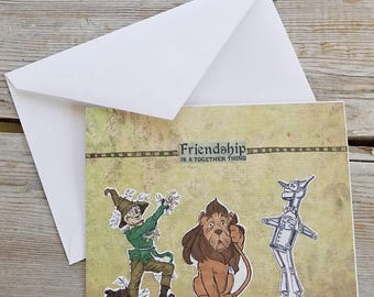 Wizard of Oz Card - Friendship Card - Wizard of Oz Greeting Card - Wizard of Oz Gifts - Best Friend Card - Friendship Greeting Card