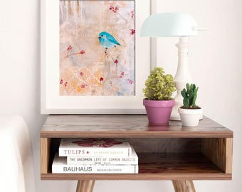 FIND YOUR WILD | Shabby Chic Wall Decor| Wall Art | Art Print | Whimsical Art | Inspiring Wall Art | Inspirational Quote | Bird Art