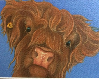 """highland cow painting """"Heather"""""""