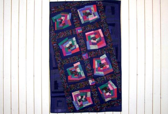 Patchwork quilt wandbehang wand quilt indianisches muster - Wandbehang patchwork ...