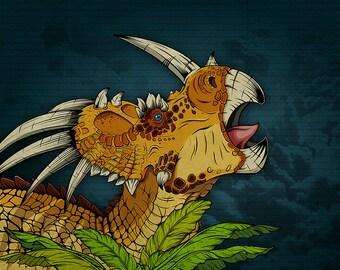 Dinosaur Print - Styracosaurus Jurassic Park, Jurassic World