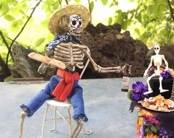 Miniature Day of the Dead figure - Javier. 1:12 Dollhouse miniature