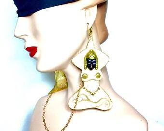 The Siamese Goddess charm earrings!