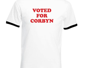 Voted for Corbyn T-Shirt - Jeremy Corbyn Vote for Pedro Style Napoleon Dynamite Tee