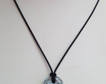 Larimar Pendant Necklace, Free Shipping, (E17116)