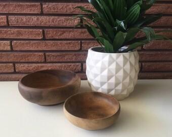 Vintage Hand Turned House of Myrtle Wood Bowls