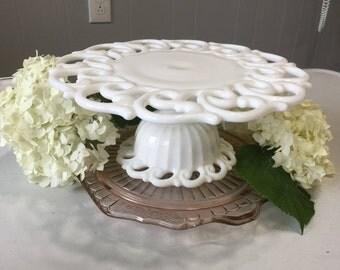 Vintage Fostoria, Monroe cake stand-lace edge